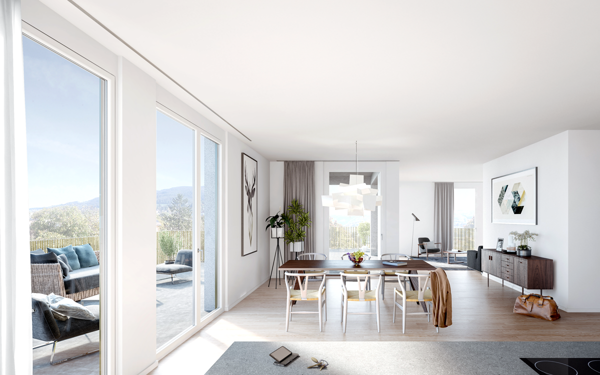 Attika Wohnung mit Dachterrasse und schönem Ausblick